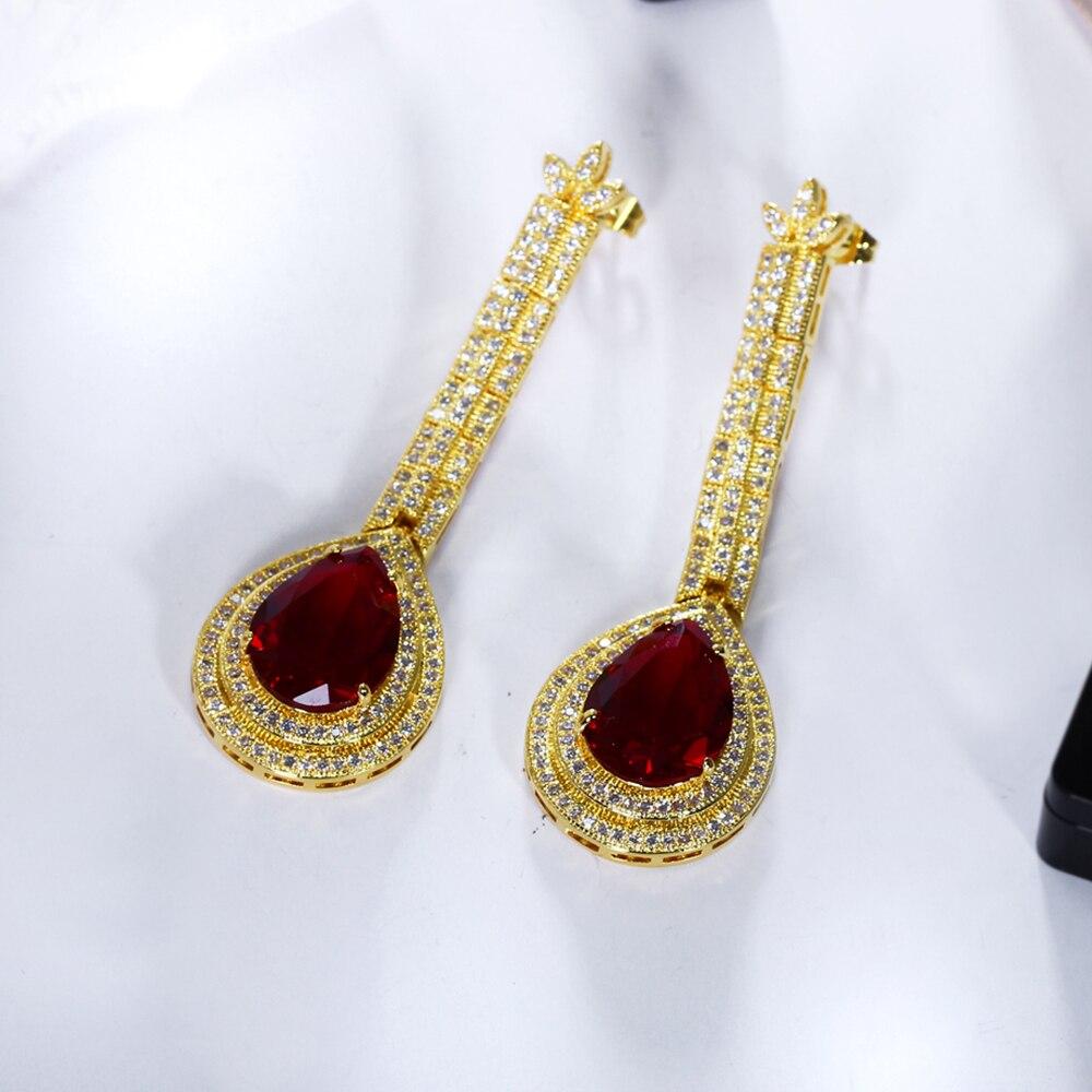 big water drop stone earrings (6)