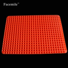 140g Pyramid Bakeware Pan Non Stick Silicone Baking Mat Pads for Oven Barbecue Tray Pastry Pizza DIY Kitchen Cooking Baking Tool