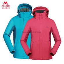 2016 winter single layer softshell jacket men and women hiking jacket waterproof clothing