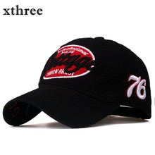 Xthree unisex spring casual baseball cap fashion snapback hats casquette bone cotton hat for men women apparel wholsale(China)