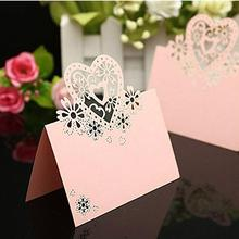 50pcs Love Heart Name Tag / Place Card / Seat Card / Name Card / Table Card For Weddings Feasts Or Parties
