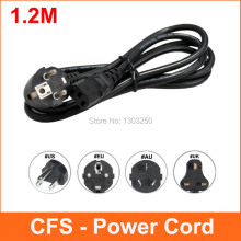 1.2m AC Power Supply Adapter Cord Cable Lead 3-Prong for Laptop EU / US / AU / UK Plug Power Cords(China)