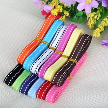 10mm Dot Grosgrain Ribbon Garment Sewing Accessories DIY Decorative Art Craft Gift Baking Ribbon Random Mix Color 12y (1y/color)