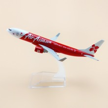 16cm Metal Plane Model Air Asia CAPA BEST NEW AIRLINE B737 Airways Boeing 737 Airlines Airplane Model w Stand Aircraft Gift(China)