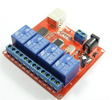 New 4 Channel 12V Relay Module Computer USB Control Switch free drive relay PC intelligent controller