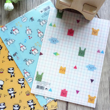1pcs/lot  220*160mm Novelty Cartoon animal PVC file bags designer file folder presentation folders kawaii stationery