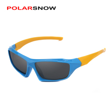 POLARSNOW Unbreakable TR90 Boys Girls Goggle Sunglasses Polarized Fashion Sun Glasses For Kids Eyewear Accessories