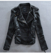 Factory 2019 Women Slim Cool Punk Style High Quality Genuine Leather Imported 100% Real Goat Skin Jackets Korea Outwear(China)