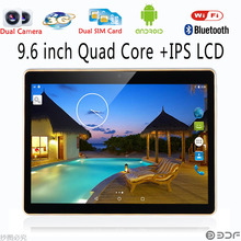 9.6 Inch Original 3G Phone Call Android Quad Core Tablet pc Android 5.1 2GB RAM 16GB ROM WiFi GPS FM Bluetooth 2G+16G Tablets Pc