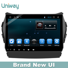 uniway 1 din android  6.0 car radio for hyundai santa fe 2010 2013 car dvd player with steering wheel gps navigation