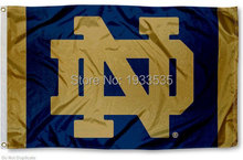 Notre Dame college Flag 3' x 5' Banner brass metal holes Flag(China)