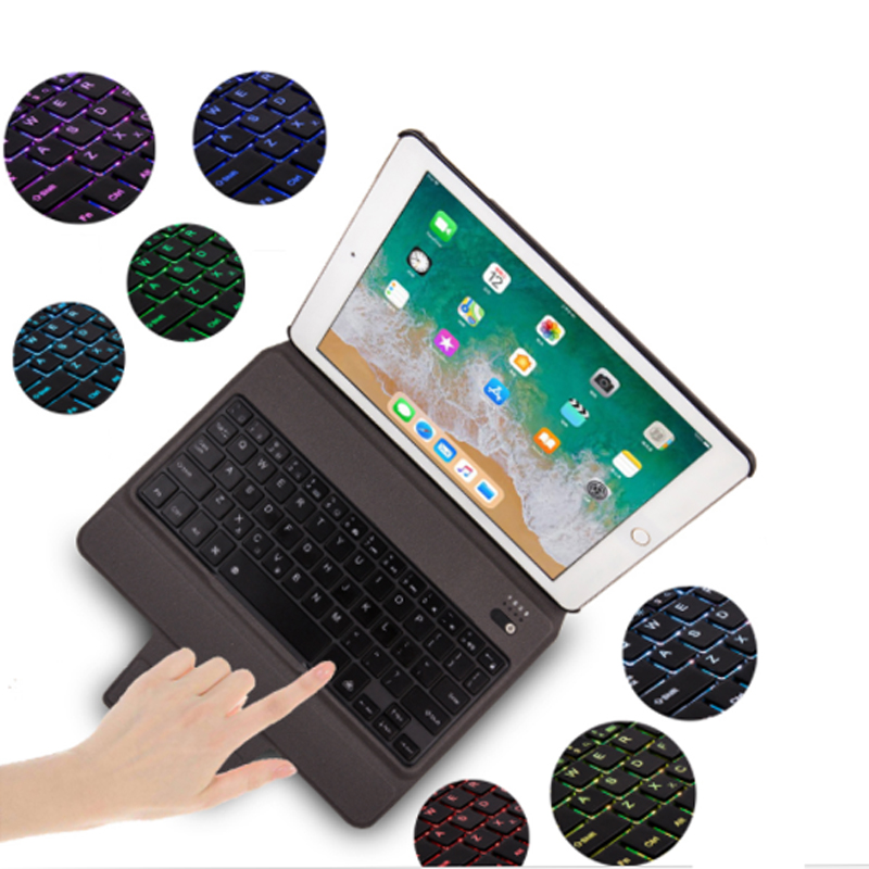 Backlit Keyboard for IPAD PRO 10.5 Inch, Wireless 3.0 Bluetooth Case with Slim Premium Leather Folio Case -Smart Wake-up/Sleep<br>