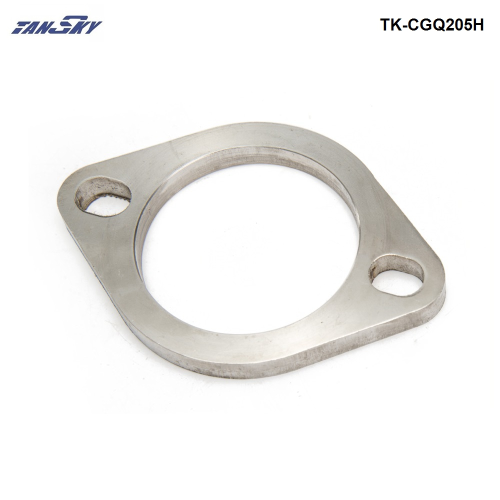 """Universal 2.5"""" Exhaust  Catback Header Straight Piping Extension Adpater Flange 0.25"""" Thick TK-CGQ205H"""