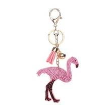 Cross border explosion Europe United States popular flamingos unicorn head key chain ladies bag accessor 2018 holiday gifts(China)