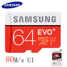 Buy SAMSUNG Memory Card 256GB 128GB 64GB 32GB 16GB 80M/s EVO+ MicroSD Storage Card EVO Plus Class10 Original TF Card SDHC SDXC UHS-1 for $5.19 in AliExpress store