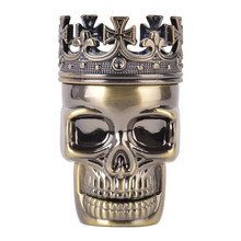 New Tobacco Crusher Pollen Catcher Skull Alloy Metal King Spice Grinder Gift MEN 99