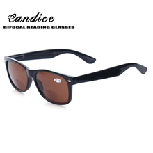 Bifocal Reading Glasses Fashion Spring Hinge Sunglasses Brown Lens Men and Women Readers Outdoor fishing sun glasses