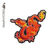 Chinese Dragon Iron On Patches Harley Riders Embroidery Patches Standard For Leather Vest Mc Patch Iron On Patches