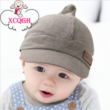 XCQGH Baby Boy Hat Plaid Design England Style Children Fashion Cap Summer Berets Baby Hat Boy Caps For Child Girl Berets Kid Ha(China)