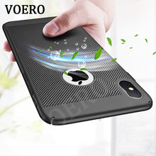 VOERO Luxury Heat Dissipation Phone Case For iPhone X 10 Cover Cool Matte Plastic Hard PC Cases For iPhone 10 X Protective Shell(China)