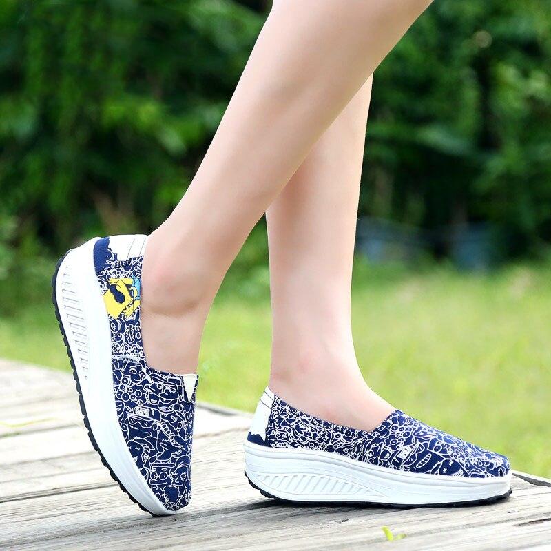 Cartoon Animation Summer Canvas Shoes Womens  Fashion for Women Swing Wedges platform zapatos mujer  feminino<br><br>Aliexpress