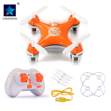Cheerson Drone CX-10 4CH 6 Axis Gyro UAV with LED light Quadcopter with 3D flips/rolls aircraft toys Remote Control helicopter(China)