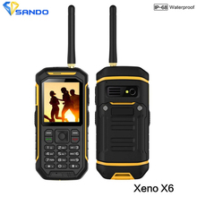 JEASUNG X6 IP68 Waterproof Rugged Mobile Phone UHF Walkie Talkie Function IP67 2500mah 2.4 Inch Dual SIM Card GSM with Torch X1
