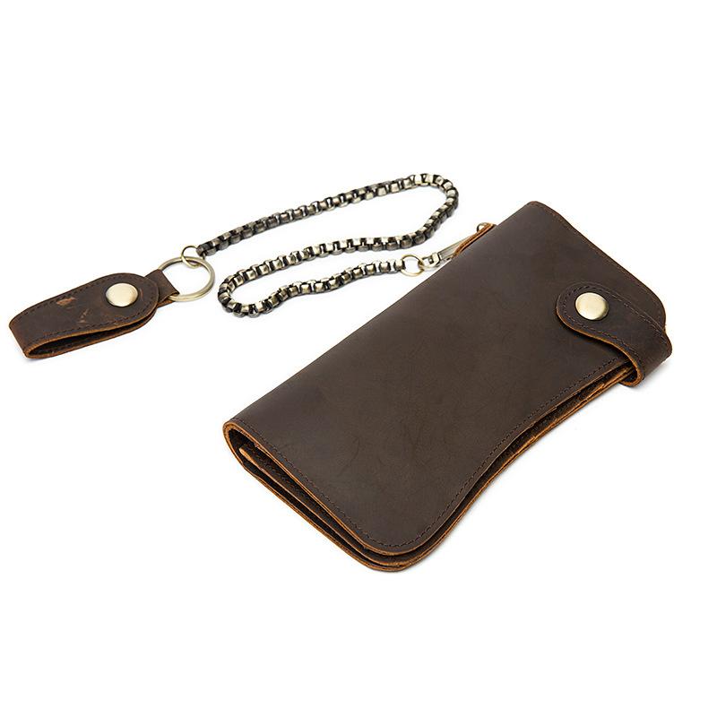 chain leather men wallets (4)