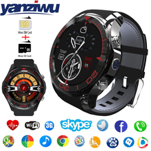 YANZIWU 1.3inch Round Screen S11 Smart Watch Phone Android 5.1 OS ROM 4GB Smartwatch with HD Camera GPS Speaker Music Player