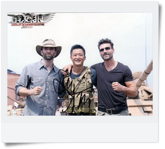 signed Wolf Warriors WU JING  autographed original photo 7 inches  6 versions free shipping 082017<br>