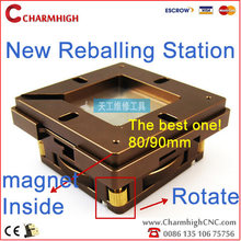 Hottest 80mm / 90mm BGA Reballing Station Patent product Auto adjust Magnet four corners