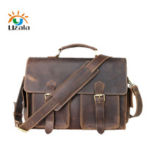 Men's leather bags, crazy horse leather bags, hand bill of lading shoulder briefcases W3-115(China)