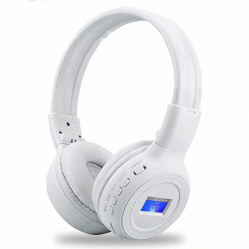Luminous LCD Screen Bluetooth Stereo Headsets Wireless Headphones Auriculares Handsfree Call With TF Card MP3 Slot FM Radio AUX(China (Mainland))