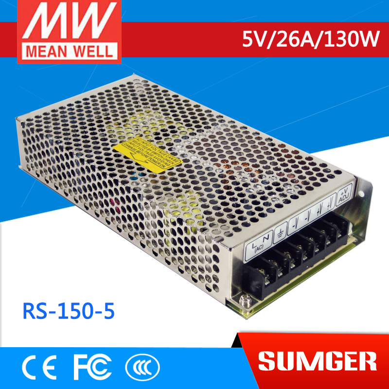 Worthwhile Free shipping MEAN WELL RS-150-5 2Pcs 5V 26A meanwell RS-150 5V 130W Single Output Switching Power Supply<br><br>Aliexpress