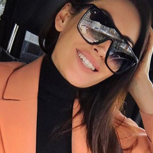 RSSELDN Square Oversized Sunglasses Women Fashion Sun Glasses Lady Brand Designer Vintage Shades Gafas Oculos de sol UV400(China)