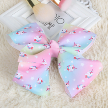 1PC Kids Satin Ribbon Bow Elastic Hair Band Hair Accessories Hairbands Christmas Ponytail Holder Headbands Hair Tie Ring Rope(China)