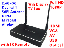 Easy Sharing DLNA Miracast Airplay for Android,IOS Windows 1080P Wireless WiFi Display TV Box Receiver HDMI VGA AV Media Player(Hong Kong)
