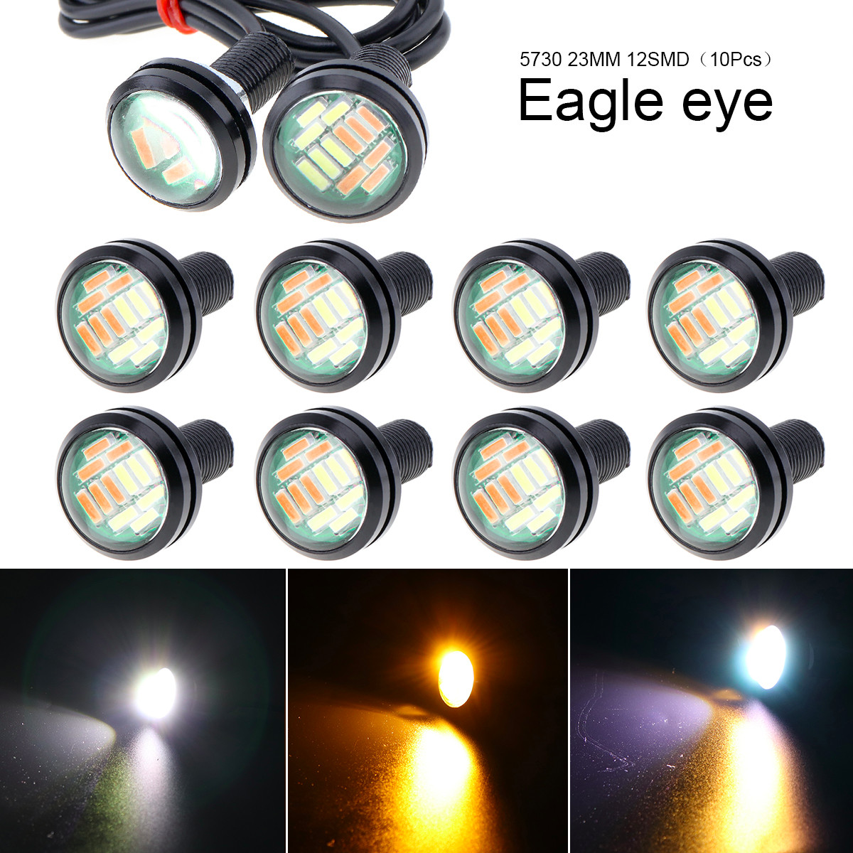 10pcs Waterproof 18mm 9w Cob White Led Eagle Eye Car Fog Drl Turn Signal Light Be Friendly In Use Electric Vehicle Parts