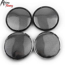 Rhino Tuning 4PC 63mm Black And White Lattice Pattern Auto Emblem Car Wheel Center Cap For OZ Racing Superturismo WRCM 834(China)