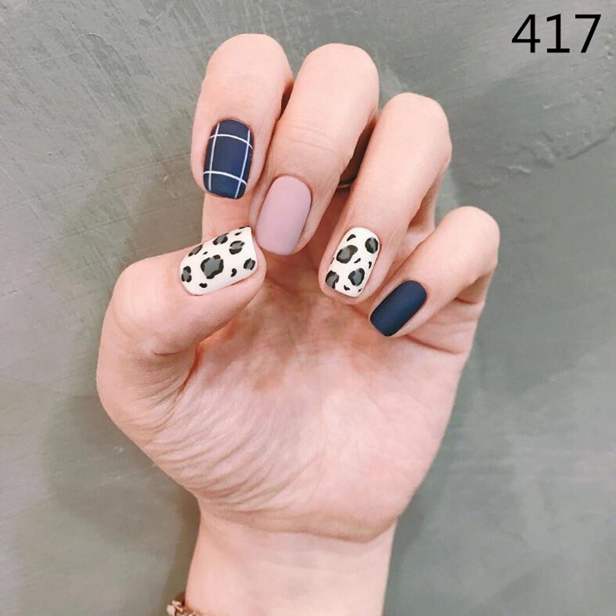 New Leopard Manicure Nail Sticker Waterproof Lasting 14 Stickers/sheet Matte Scrub Nail Jewelry Environmental Protection