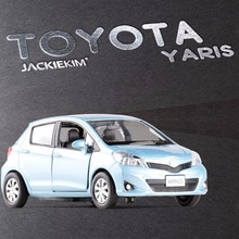 RMZ City 1:32 TOYOTA Yaris Alloy Car Model Vehicles Pull Back Replica Authorized By Original Factory Car Model Kids Toys Gift(China)