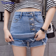 Buy Spring Summer New Fashion Denim Skirt Shorts Women A-Line Jeans Skirts Womens High Waist Mini Skirt Female Casual Jupe Femme for $14.49 in AliExpress store