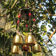 Large copper wind chimes antirust bell outdoor decorations birthday gifts to friends and best wishes home decoration N660(China)
