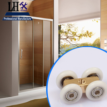 LHX YP276 Brass Pulley Wheel for Glass Sliding Door Bathroom Accessories Home Shower Balcony Hardware DIY h(China)