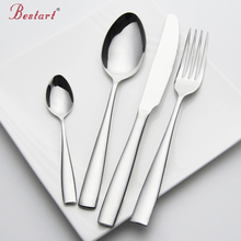 Set Cutlery Stainless Steel 24 pieces Service 6 Person Silver Knife Fork Set Restaurant Cutlery Dinnerware China Sets(China)