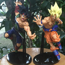 New PVC 2 Styles Comic Dragon Ball Action Figure Goku Bardock Model Toy Anime Collectibles Boy Birthday Gift Decoration