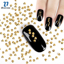 Shell Design 3D Copper Nail Art Decoration Gold Silver Charms Rivet Studs Glitter Rhinestones Decorations For Nails PJ463 PJ462