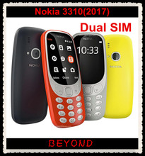 "Nokia 3310 2017 Origianl New Unlocked GSM Dual Sim Mobile Phone 2.4"" TFT Bluetooth 2MP 1200Mah(China)"