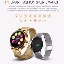 FIZILI Bluetooth Smart Watch 1.22 inch IPS HD Display Support Heart Rate Monitoring Message Push for IOS Android Phones(China)