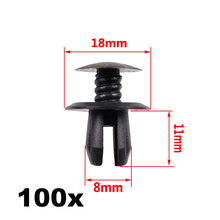 In Stock New 100x Black Trim Panel Lining Clips for VW Volkswagen T4 T5 Transporter Eurovan(China)